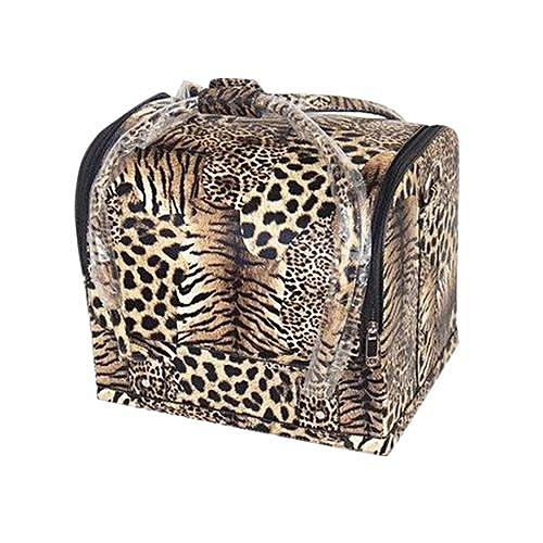 5c210ea8fd7e Generic Meibaol Store Personalized Fashion Portable Professional Makeup  Leopard Cosmetic Case-As Shown