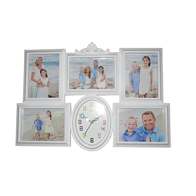 Buy Ariel Quartz Picture Frame Wall Clock - White @ Best Price ...
