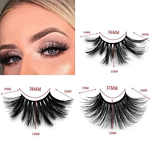 5f16f45e957 Generic 50 Pairs 25mm Lashes Dramatic Mink Lashes Soft Long 3D Mink  Eyelashes Crisscross Full Volume Eye Lashes Makeup