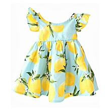 Floral Multicolored Flared Princess Baby Dress