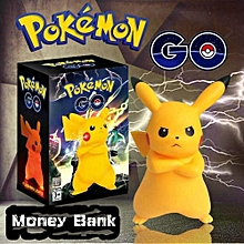 Pokemon Go Fashion Pikachu Shiny Flashing  Silica Gel Money Banking(Color:Yellow)