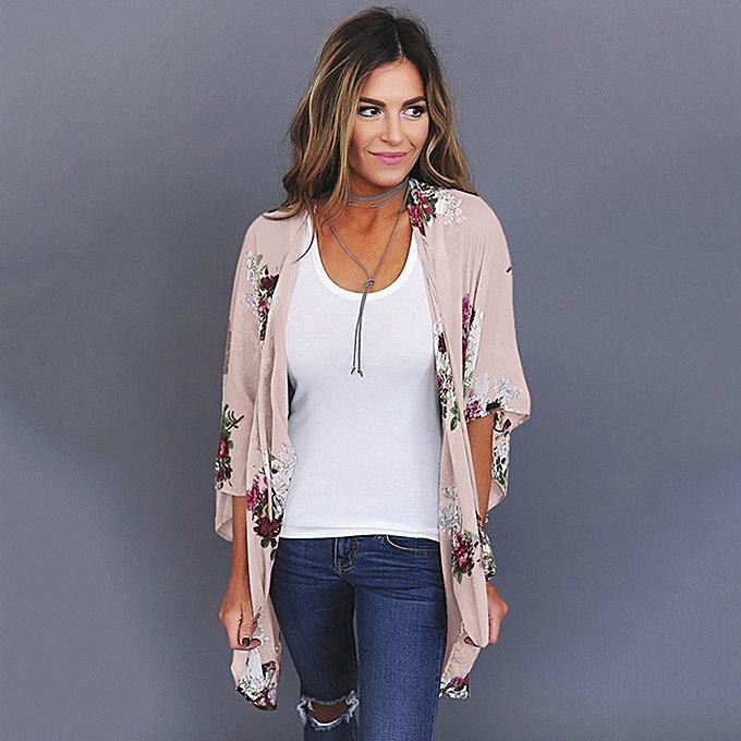 40426d75d96 Sexy Women Floral Print Cardigan Open Front Maxi Coat Flare Sleeve Summer  Boho Long Wear