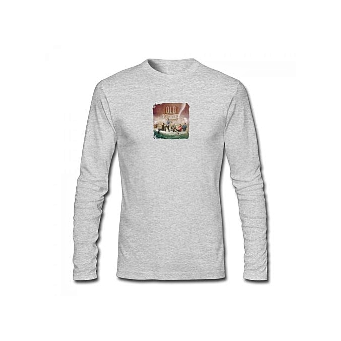 Break Up With Him Old Dominion Men's Cotton Long Sleeve T-shirt Grey