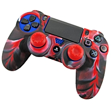 Soft Camouflage Silicone Case Cover For Playstation PS4 Controller RD