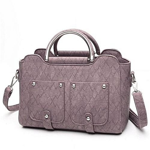 869ca1bb859d UNIVERSAL Ladies Leather Tote Hand Bag New Designer Handbags High Quality Women  Shoulder Bags Messenger Bag (Pink)