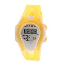 Boy Girl Student Sport Time Electronic Digital LCD Wrist Watch Orange