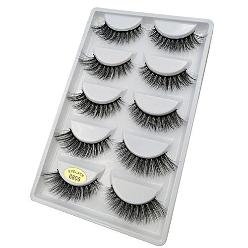 ef0ab2e045c Generic 3D mink lashes false eyelashes natural long handmade volume mink  eyelashes 100% Cruelty free Lashes makeup cilio faux cils(G806)