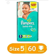 DIAPERS. JUMBO PACK ,SIZE 5(13-18kgs) 40 PIECES