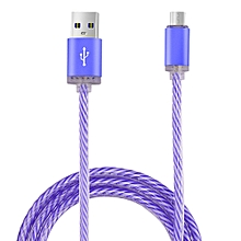 Glow LED Charger Luminescent Charging Date Sync Cable For Samsung Galaxy S7 -Purple