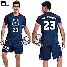 Customized Youth Boy And Adult Men's Football Soccer Sport Jersey-Dark Blue(QD-1625)