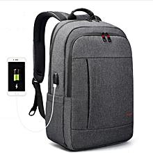 Anti theft USB charging Men 15.6inch Laptop Backpack for Women Fashion Travel Bag black