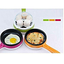 Egg boiler Non Stick Multi function Electric Frying Pan - White & Green