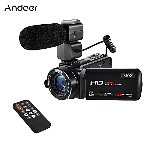 HDV-Z20 1080P Full HD 24MP WiFi Digital Video Camera Camcorder with  External Microphone 3 0