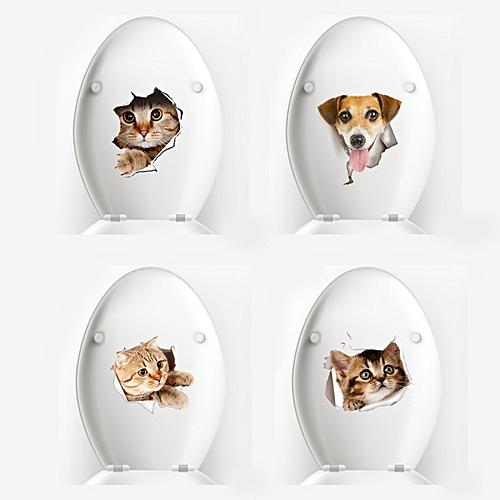 buy generic honana bd-852 3d broken wall kitten doggie wall sticker