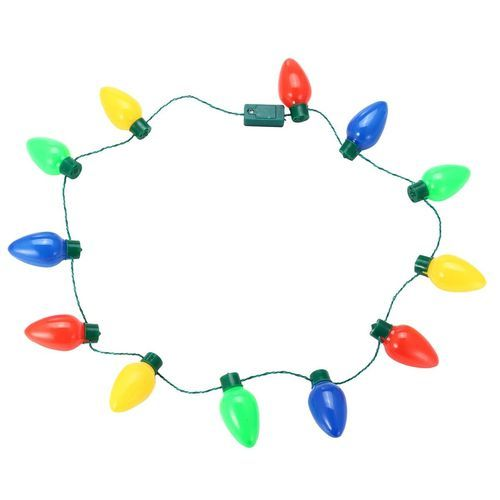 Light Up Christmas Necklace.New Led Light Up Christmas Bulb Necklace Party Favors For Adults Or Kids Holiday