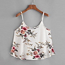 Women Casual Sleeveless Floral Crop Top Vest Tank Shirt Blouse Cami Top