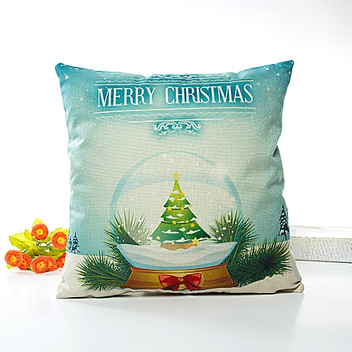 Buy Neworldline Merry Christmas Pillow Cases Linen Sofa Cushion Delectable Multicolored Decorative Pillows