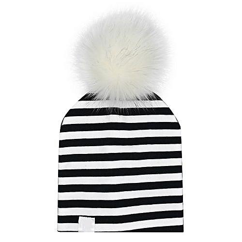 334ad94a139 Eissely Newborn Infant Baby Winter Print Warm Faux Fur Ball Hat Beanie Cap