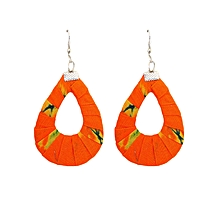 Orange Oval(Medium) Earrings