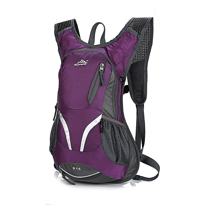 03ec9091a 15L Cycling Backpack with Helmet Holder Lightweight Sports Bag MTB Mountain Bicycle  Rucksack(Plum)