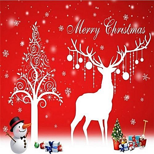 Prime Christmas Deer Wall Sticker Vinyl Wall Stickers For Kids Rooms Living Room Windows Background Decorations Bedroom Stickers Download Free Architecture Designs Scobabritishbridgeorg