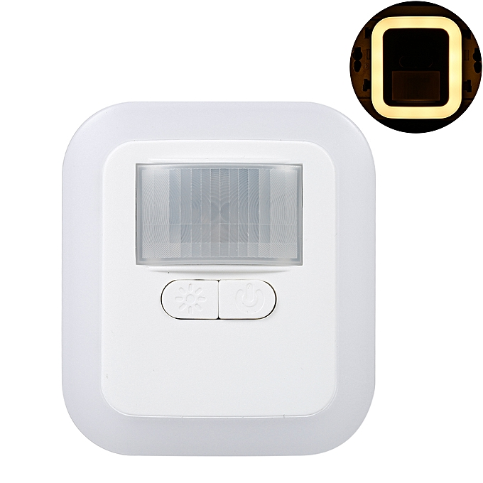 LED Plug-in Motion Sensor Light Wall Night Lamp with Brightness &  30s/60s/90s/120s Lighting Time Adjustable for Living Room Bedroom Stairs  AC110-240V