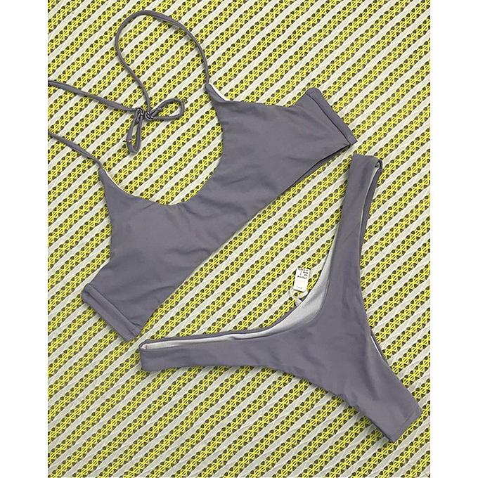 0cc6d023df ... New Solid Grey Color Micro Bikini Set Women Swimsuit 6-14 Size Sexy Thong  Bikini ...