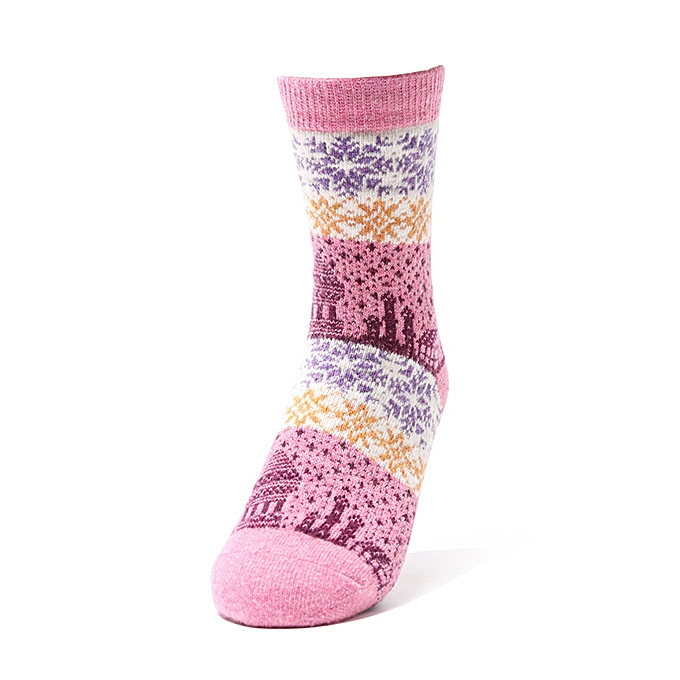072546c3202 Women Ethnic Style Winter Wool Blend Warm Middle Tube Socks Casual Thick  Snowflakes Cute Socks