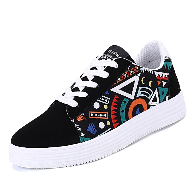 bfe7ade3ddde Generic Men Creative Graffiti Graphic Printing Canvas Shoes   Best ...