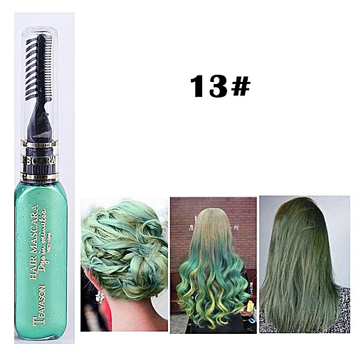 Beauty Women Hair Color Styling Hair Dye Color Chalk Temporary Non-toxic  DIY Hair Cream Party Dye Pen Crayons(green)