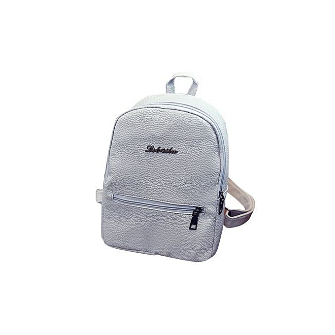 2c391e160437c5 bluerdream-Girls Leather School Bag Travel Backpack Satchel Women Shoulder  Rucksack GY- Gray