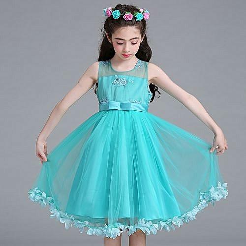Buy Generic Girls Princess Dress Children Wedding Flower Girl Dress ...