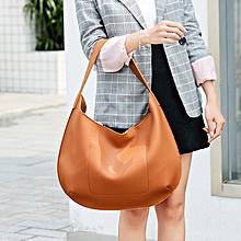 Women PU Leather Shoulder Bag Zipper Top Casual Handbag Hobo Bag Totes