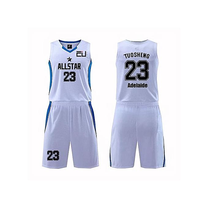 d3e67df7b3d Customized Name Number Men's Basketball Team Sport Jersey Uniform-White (MDS-1702)