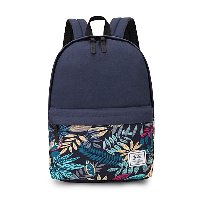 0f28c053a9 Printed Backpack Campus Wind High School Student Bag College Wind College  Backpack-Blue