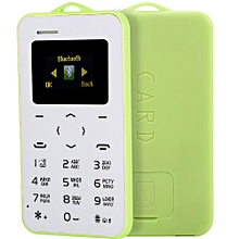 AIEK C6 1.0 inch Pocket Card Phone Russian Keyboard GSM Bluetooth 2.0 Calendar Alarm GREEN