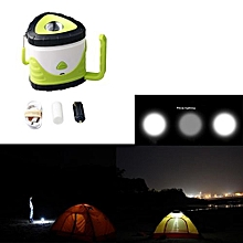 Camping & Hiking  LED Rechargeable Camping Outdoor Hiking Lantern Light Tent USB Lamp Green