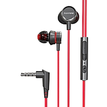 G15 game earphone noise reduction earphones Computer audio-video earphones  -Red