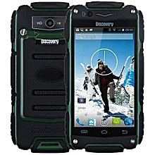 4.0 inch Discovery V8 Android 4.4 3G Smartphone MTK6572 1.0GHz Dual Core WiFi GPS Waterproof Dustproof Shockproof 4GB ROM-ARMY GREEN