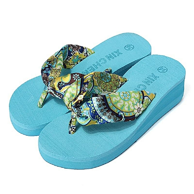 premium selection new release good selling Fashion Women High-heeled Thick Flip Flops Sandal Beach Summer Slipper  Shoes-EU