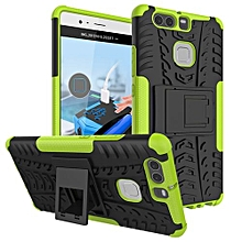 "For Huawei P9 Case, Hard PC+Soft TPU Shockproof Tough Dual Layer Cover Shell For 5.2"" Huawei Ascend P9, Green"