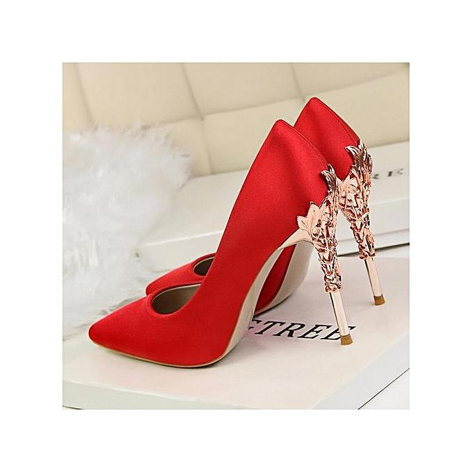 c0c6cb08e9831 2019 New Fashion High-Heeled Shoes Thin Heels Ladies Wedding Shoes Pointed  Toe Woman Pumps