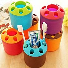 Wash Set Sanitary Ware Toothbrush Tube Bathroom Toothbrush Holder Shelf Mouthwash Cup