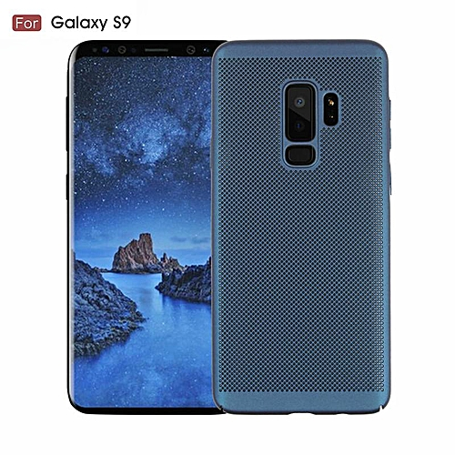 lowest price 91bd3 04611 For Samsung Galaxy S9 Heat Dissipation Grid Light Phone Case Cover (Blue)