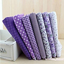 "PURPLE Series 7 Assorted Pre Cut Cotton Quilt Fabric Fat Quarters 19.7""x18.5"""