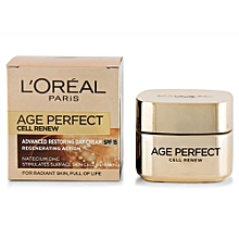Age Perfect Cell Renew Advanced Restoring DAY Cream SPF 15 - 50ml.