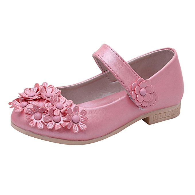 40d208812194 jiuhap store Baby Girls Flower Sandals Sneaker Toddler Children Solid  Casual Single Shoes -Pink