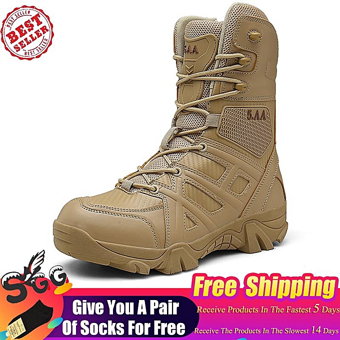 5b8a3b5601 2019 New Men Outdoor Army Combat boots Trekking Hiking shoes Military  Tactical boots Desert Ankle boots Mountain Climbing Free Shipping