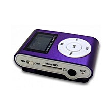 MP3 Player With Display and FM Radio- Purple