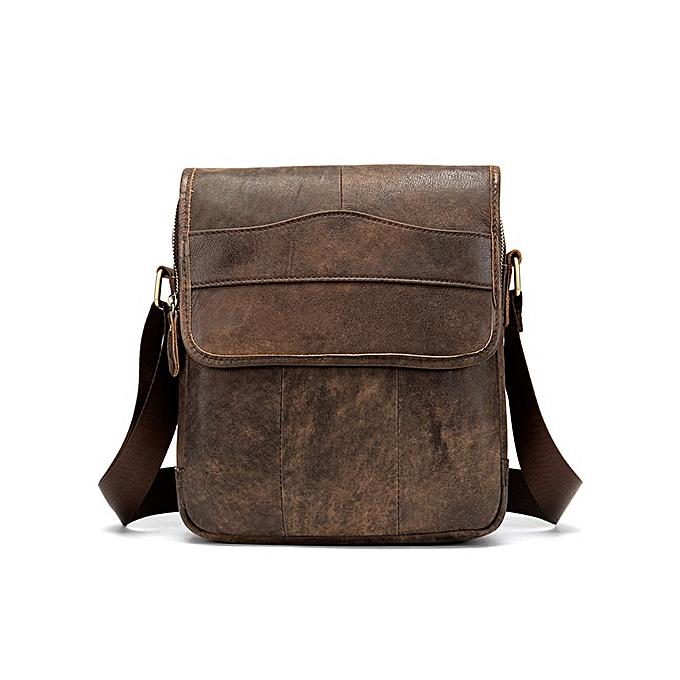 ac8fd9e020 MVA Shoulder Bag for Men Men's Leather Bag Vintage Messenger Bags Men  Leather Small Crossbody Bags for ipad handbag 1121(1121moshacoffee)